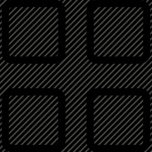 frame, geometric, sqares icon