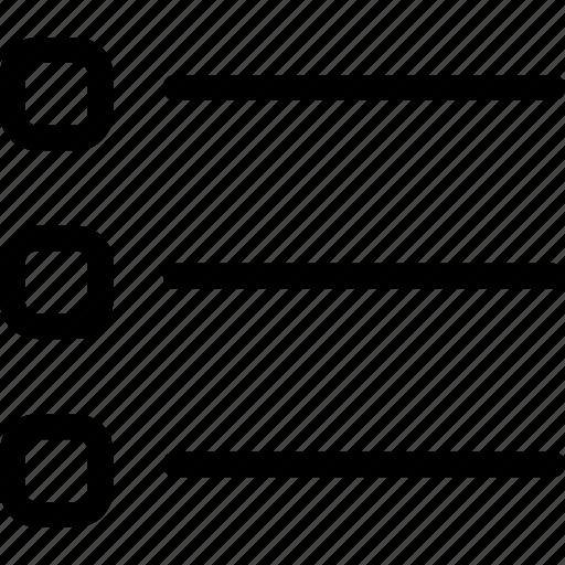 do, list, points, to, write icon