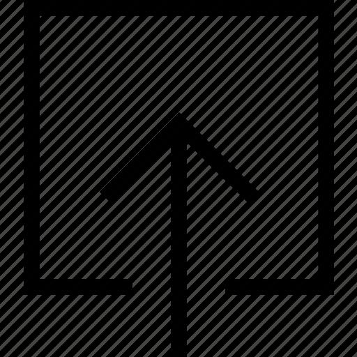 arrow, file, up, upload icon