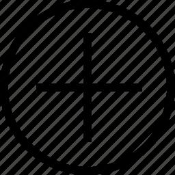 circle, plus icon