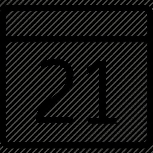 calendar, date, one, reminder, twenty icon