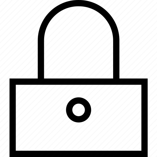 block, close, door, lock icon