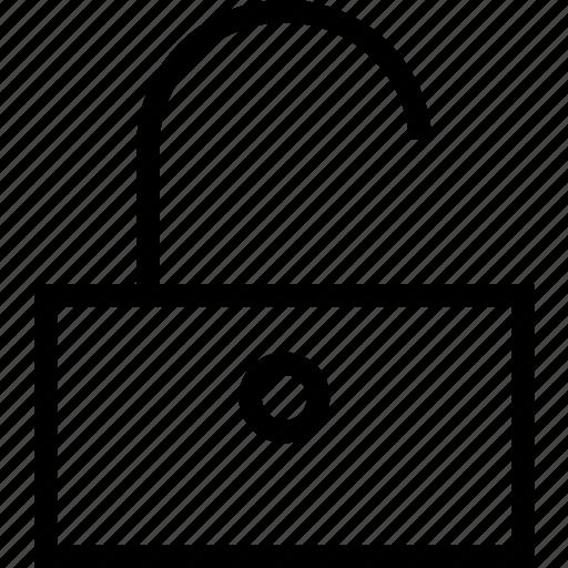 block, door, lock, open icon