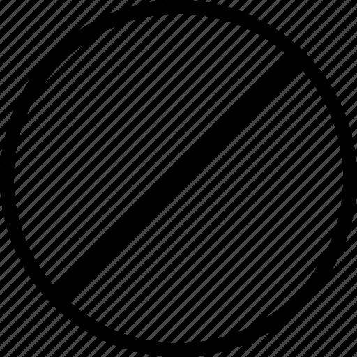 ball, forbidden, screw icon