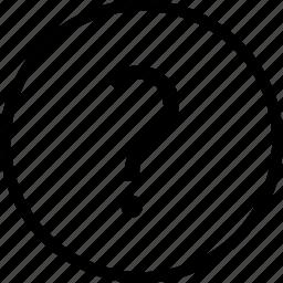circle, mark, question icon