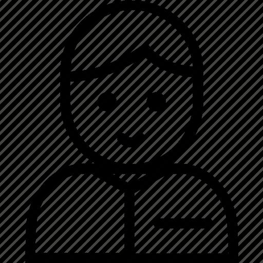 boy, label, person, smile icon