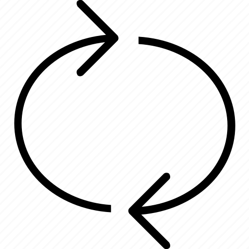 arrow, continuous, round icon