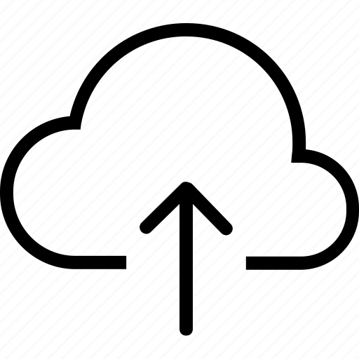 arrow, cloud, up, weather icon