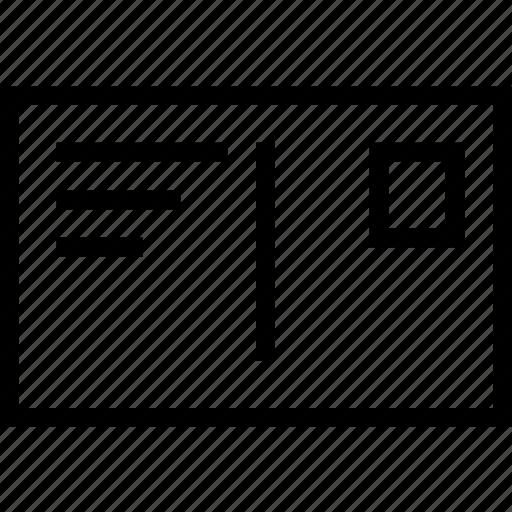 envelope, letter, postal, stamp icon