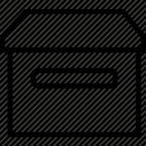 box, carton, crate, storage icon