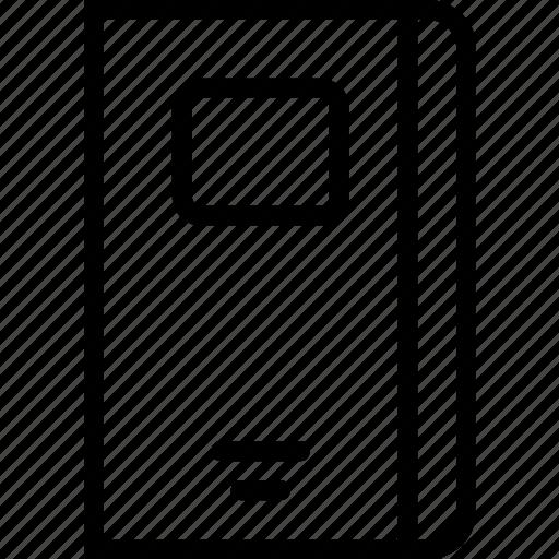 label, notebook, school, student icon