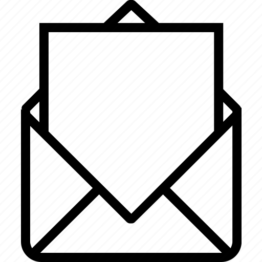 blank, envelope, letter, paper, send icon