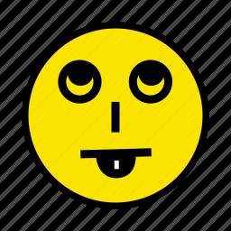 face, feel, smile, tongue icon