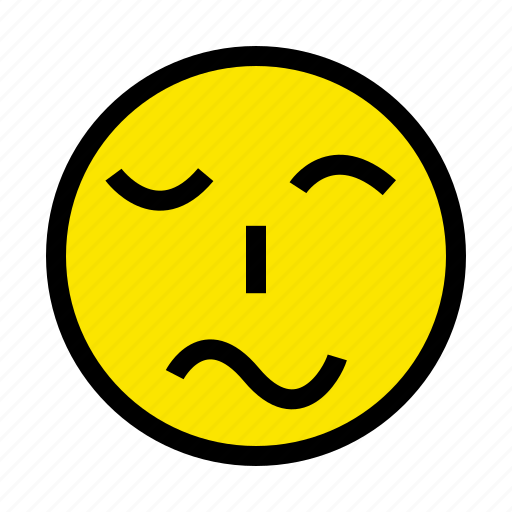 boring, face, feel, sad, smile icon