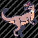 allosaurus, ancient, animal, dino, dinosaur, jurassic, wild icon