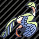 ancient, animal, archaeopteryx, dino, dinosaur, jurassic, wild icon