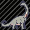 ancient, animal, brachiosaurus, dino, dinosaur, jurassic, wild icon