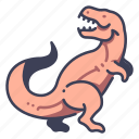 ancient, animal, dino, dinosaur, jurassic, rex, tyrannosaurus icon