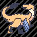 ancient, animal, dino, dinosaur, jurassic, utahraptor, wild icon