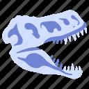ancient, bone, dino, dinosaur, fossil, skeleton, skull icon