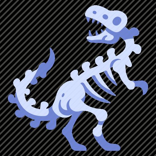 ancient, bone, dino, dinosaur, fossil, museum, skeleton icon