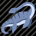 ancient, animal, dino, dinosaur, elasmosaurus, jurassic, ocean icon