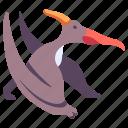 ancient, animal, dino, dinosaur, flying, jurassic, pteranodon icon