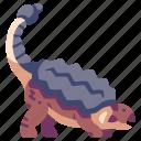 ancient, animal, ankylosaurus, dino, dinosaur, jurassic, wild icon