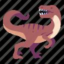ancient, animal, dino, dinosaur, jurassic, velociraptor, wild icon
