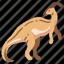 ancient, animal, dino, dinosaur, jurassic, parasaurolophus, wild icon
