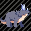 ancient, animal, dino, dinosaur, jurassic, triceratops, wild icon