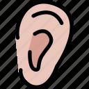 ear, hear, interaction, listen icon