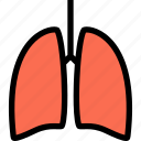anatomy, breath, human, lungs, pulmonology icon