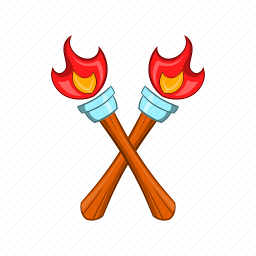 bright, cartoon, fire, flaming, heat, sign, torch icon