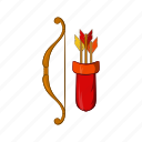 archery, arrow, bow, cartoon, longbow, medieval, weapon