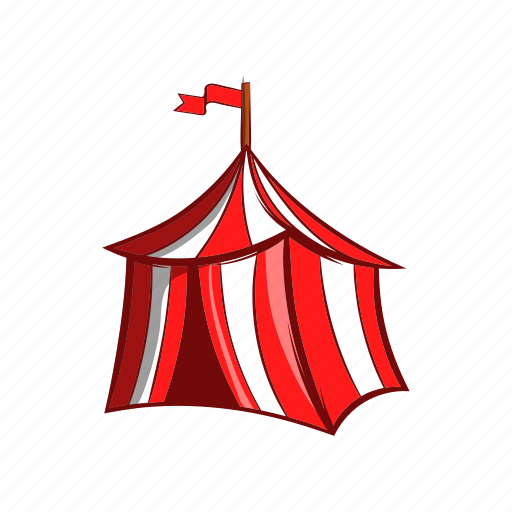 cartoon, flag, marquee, medieval, pavilion, red, tent icon