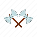 axe, battle, cartoon, medieval, metal, sharp, weapon icon