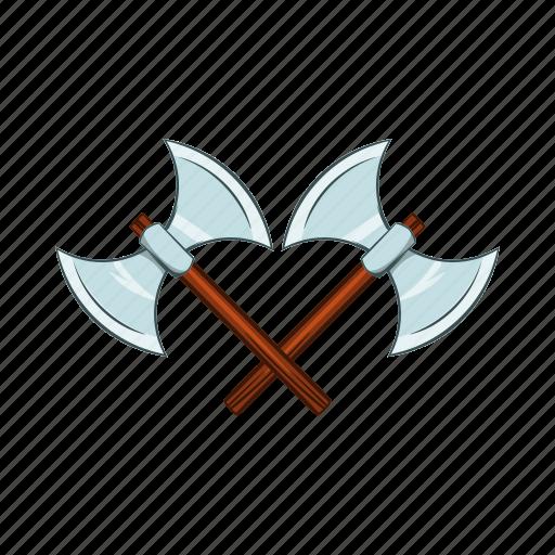 axe, battle, cartoon, medieval, metal, sharp, weapon icon