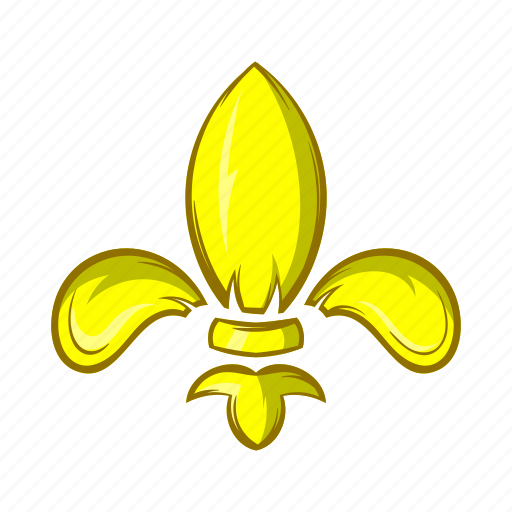 Cartoon, emblem, fleur, flower, france, french, lily icon