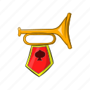 cartoon, ceremony, fanfare, instrument, medieval, music, trumpet icon