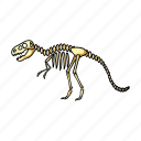 dinosaur, exhibit, exhibition, museum, object, sights, skeleton icon