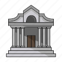 building, column, house, museum, structure icon