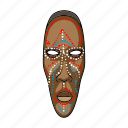 african, exhibit, exhibition, mask, museum, object, sights icon