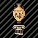 china, exhibit, exhibition, museum, object, sights, vase icon