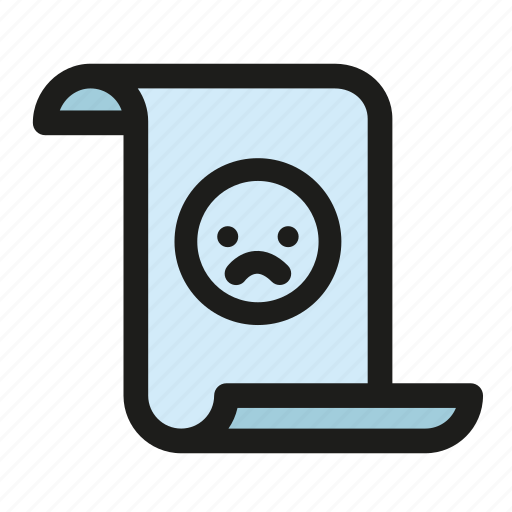 angry letter, complaint, hate mail, letter, rejection, sad poem icon