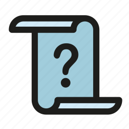 comment, debate, essay, paper, query, question, unknown icon
