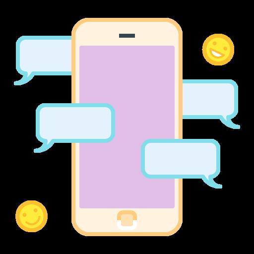 bubble, chat, mobile, smartphone, talk icon