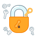 key, lock, privacy, protect, safety, secure icon