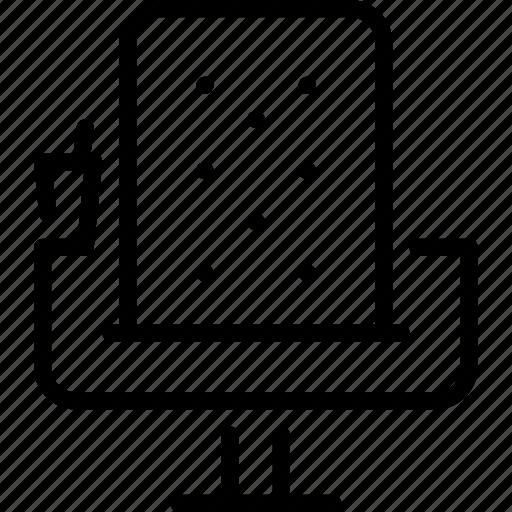 chair, cinema, film, movie, video icon