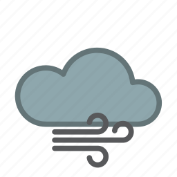 cloud, cold, forecast, snow, weather, wind icon